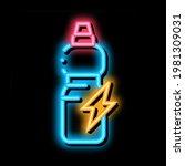 energy drink in bottle neon...   Shutterstock .eps vector #1981309031