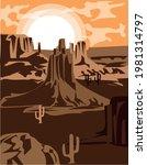 2 d wild west background   old...   Shutterstock .eps vector #1981314797