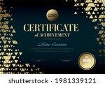 modern golden certificate of... | Shutterstock .eps vector #1981339121