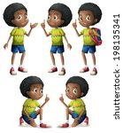 5,background,backpack,bag,black,boys,brown,cartoon,clip-art,clipart,complexion,curly,dark,design,drawing