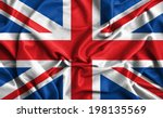 Closeup Of Ruffled British Flag