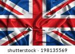 Closeup Of Ruffled British Flag
