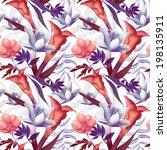 seamless tropical flower  plant ... | Shutterstock . vector #198135911