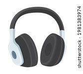 headphones sign emoji icon...   Shutterstock .eps vector #1981383974