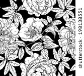 seamless pattern with wild... | Shutterstock .eps vector #198138551