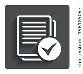 text file sign icon. check file ...