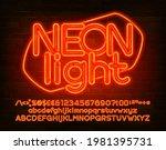 neon light alphabet font.... | Shutterstock .eps vector #1981395731