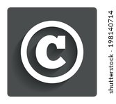 copyright sign icon. copyright...