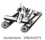 campfire in monochrome style....   Shutterstock .eps vector #1981431971
