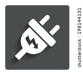 electric plug sign icon. power...