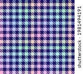 pastel rainbow plaid on navy...   Shutterstock .eps vector #1981494191