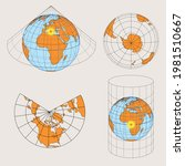 geographical shapes  auxiliary... | Shutterstock .eps vector #1981510667