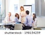 beautiful businesswoman... | Shutterstock . vector #198154259