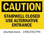 stairwell closed use... | Shutterstock .eps vector #1981542794