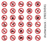 prohibited sign | Shutterstock .eps vector #198154541