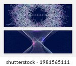 digital technology abstract... | Shutterstock .eps vector #1981565111