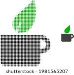 herbal tea halftone dotted icon ... | Shutterstock .eps vector #1981565207