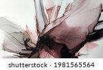 alcohol ink. vinous liquid... | Shutterstock . vector #1981565564