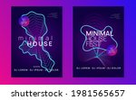 music poster. dynamic gradient... | Shutterstock .eps vector #1981565657