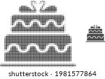 marriage cake halftone dotted...   Shutterstock .eps vector #1981577864