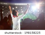 excited football fan cheering... | Shutterstock . vector #198158225