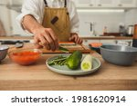 close up chef's hands making...   Shutterstock . vector #1981620914