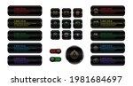 set of metallic web buttons