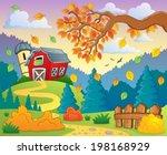 autumn farm landscape 2   eps10 ... | Shutterstock .eps vector #198168929