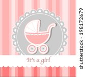 baby carriage   wish card to... | Shutterstock .eps vector #198172679