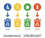 trash bin for separate garbage... | Shutterstock .eps vector #1981801607