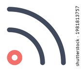 rss feed icon vector image. can ...