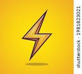 lightning thunder sign cartoon... | Shutterstock .eps vector #1981823021