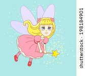 angry  little tooth fairy in a... | Shutterstock .eps vector #198184901