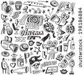 cinema doodles  | Shutterstock .eps vector #198186884