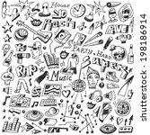 music doodles  | Shutterstock .eps vector #198186914