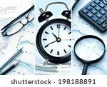 picture collage of office work... | Shutterstock . vector #198188891