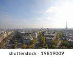view of paris from the arc de... | Shutterstock . vector #19819009