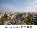 view of paris from the arc de... | Shutterstock . vector #19819012