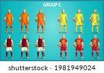 set of four soccer teams... | Shutterstock .eps vector #1981949024