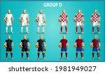 set of four soccer teams... | Shutterstock .eps vector #1981949027