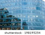 modern glass silhouettes in the ... | Shutterstock . vector #198195254