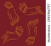 the beautiful hand gesture of... | Shutterstock .eps vector #1981966757