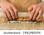 sushi preparation process ...   Shutterstock . vector #1981980554