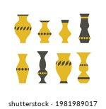 vector set of simple ceramic... | Shutterstock .eps vector #1981989017