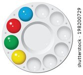 round plastic palette with... | Shutterstock .eps vector #198200729