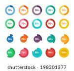 set of colorful circle diagrams ... | Shutterstock .eps vector #198201377