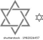 David Star Halftone Dotted Icon ...