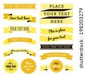 ribbons vintage vector set in... | Shutterstock .eps vector #198203279