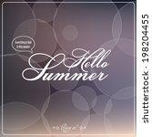hello summer. vector... | Shutterstock .eps vector #198204455