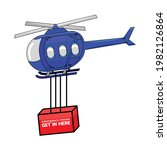rescue helicopters that rescue...   Shutterstock .eps vector #1982126864